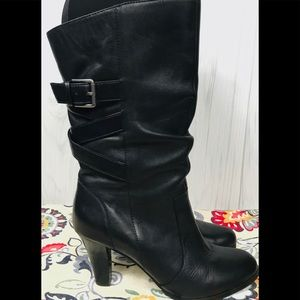 Kelly & Katie Mid Calf Leather Boots Sz.(7.5)
